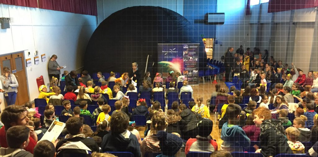 The Space Odyssey dome experience is a great way of reinforcing lesson plans for a wide age range of school children.